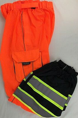 ML Kishigo 3119 L-XL Safety Mesh Orange Black Gray Reflective Pants ANSI/ISEA