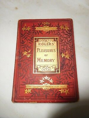 ANTIQUE BOOK PLEASURES of MEMORY by SAMUEL ROGERS 1800s CHOICE SERIES RARE