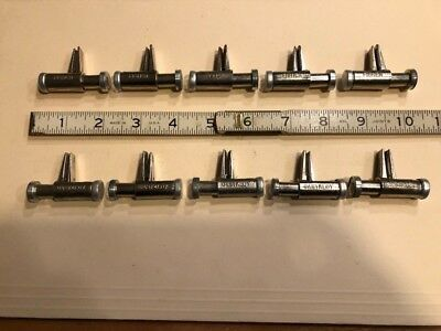 10 new Fisher Castaloy spring-loaded pinchcock clamps