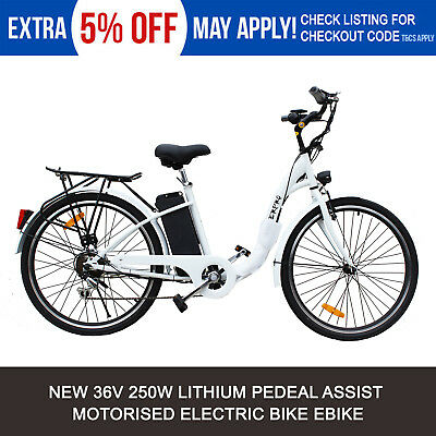 White 250W ELECTRIC BIKE 36V EBIKE URBAN SCOOTER CITY BICYCLE LITHIUM BATTERY
