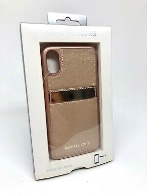 Michael Kors MK Leather Folio Wallet Pocket ID Phone Case fits Apple iPhone X 10