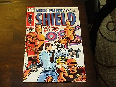 Nick Fury Agent Of Shield #12 Higher Grade Silver Age Barry Smith Cover And Art