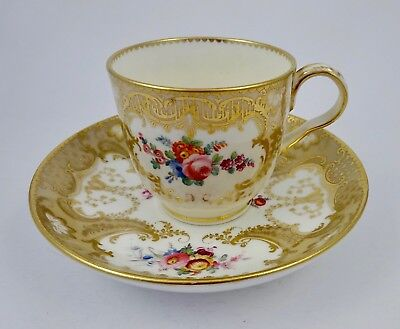 Antique Minton Floral Coffee Cup & Saucer, Pattern 5641
