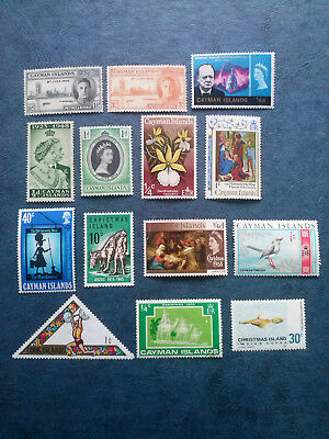 Cayman Islands + Christmas Islands  14 Stamps Mnh -Mlh-Mh