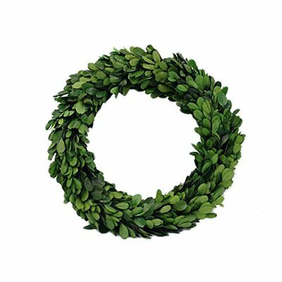 """NEW Preserved Garden Boxwood Round Wreath 10"""" By Decovilla FREE SHIPPING"""