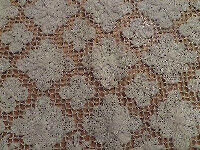 Vintage handmade  bobbin lace table cloth 54 by 70