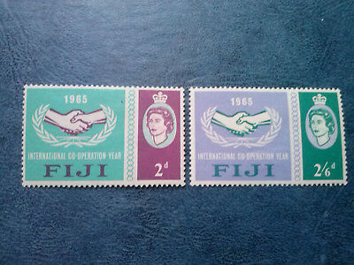 Fiji - 1965 - Qe Ii - Icy - Cooperation Year -Mlh - Mh - Set!