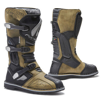 motorcycle boots | Forma Terra Evo brown waterproof adventure dual adv alpine