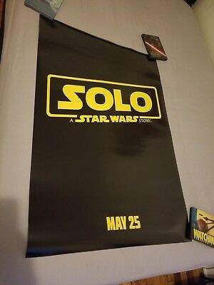SOLO A Star Wars Story & The Last Jedi Original Movie Posters DS 27x40