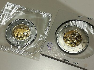 1997 (x2) Canada 2 Dollar Coins - Proof Mint Sealed (PL) and Specimen (SP)