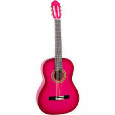 Valencia 1/4 Size Series 100 Nylon String Guitar Pink Burst
