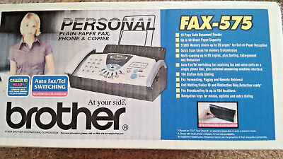 Brand new Brother FAX-575 Plain Paper Copier Fax  Fast shipping