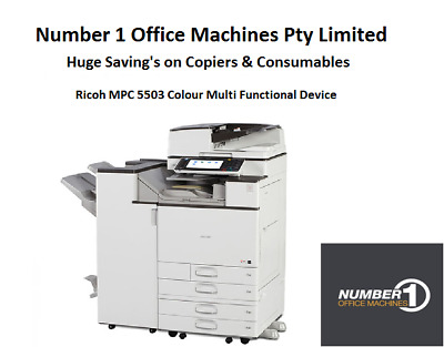Ricoh MPC 5503 Colour Copier,Network Print,Scan,email, Single Pass,PostScript