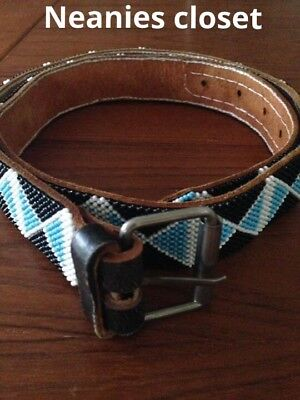 Vintage Beaded Indian Style Belt So Gorgeous Bargain Price