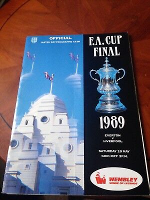 Fa Cup Final Programme From 1989 Everton vs Liverpool