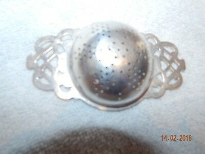 Vintage Silver plate - plated Tea Strainer and drip bowl