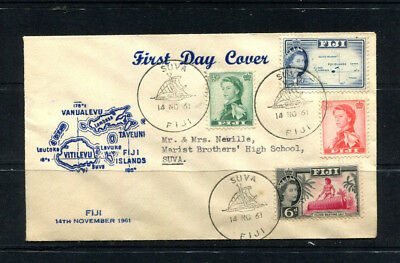 Fiji Britishcommonwealth 1961 Fdc First Day Cover Cds Suva To One Shilling
