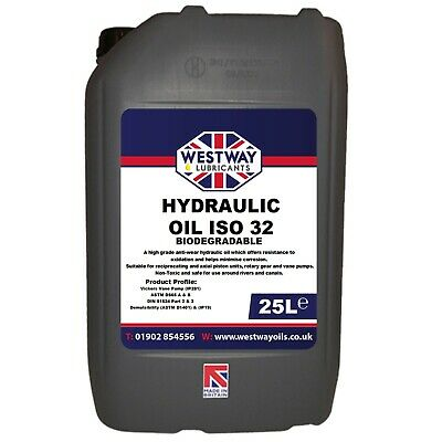 Biodegradable Hydraulic Oil ISO 32 Fluid 25L 25 Litres Bio Oil VG32