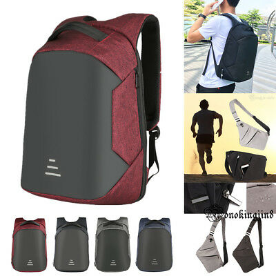 Waterproof Anti-theft Notebook Laptop Backpack+USB Charge Bag For Laptop PC