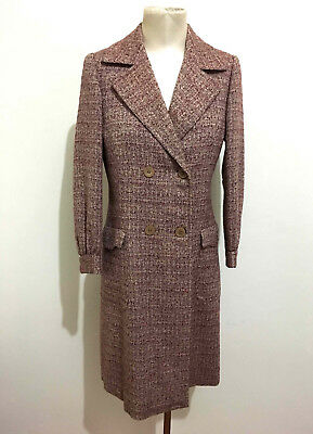 CULT VINTAGE '70 Cappotto Trench Donna Lana Wool Woman Coat Sz.S - 42