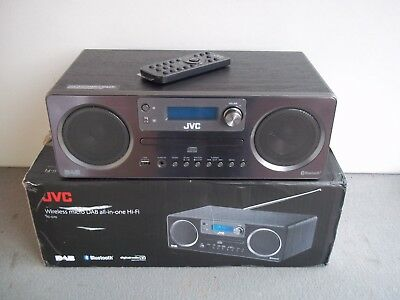 Jvc Rd-D70 Hi-Fi Stereo System Dab Radio Wireless Bluetooth Usb Port No Cd