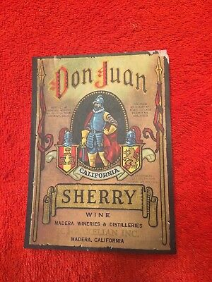 Don Juan Sherry Label-Madera, CA  !!