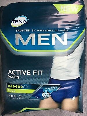 Paquet de 8 culottes incontinence TENA MEN Active Fit Pants Plus taille L