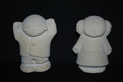 Stone Sculpture Very Cute Girl And Boy Figurines By Stone Art
