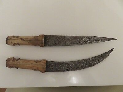 2 ANTIQUE KINDJAL JAMBIYA DAGGER ISLAMIC KNIFE SYRIA OTTOMAN TURKISH Calligraphy