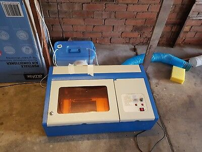 Used 40W CO2 Laser Engraving Cutting Engraver Cutter Machine 300x200