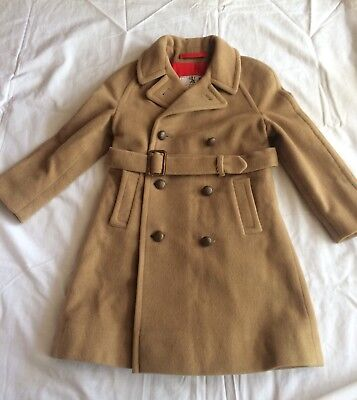 Child's Wool And Camel Hair Winter Coat