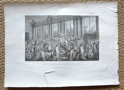Large Engraving 18th - Day of Saint- Cloud - Monnet - Helman