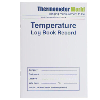 Temperature Log Book 6 Month Record Hygiene Fridge Freezer Chilled Food In-111