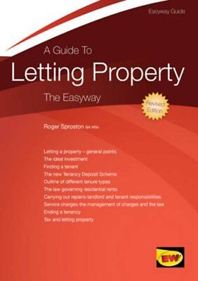 Guide to Letting Property, A (Easyway Guides) By Roger Sproston