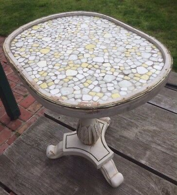 Antique Side Table. Mosaic Top