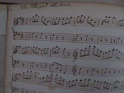 1794 Music Manuscript Jackson Barnes author Essex 86pp 64 songs Welsh Irish