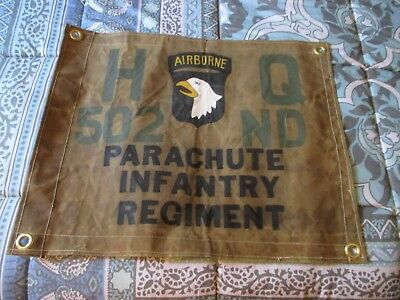 Wwii Us Army 101 St Airborne Division 502 Nd Rir Hq  Flag
