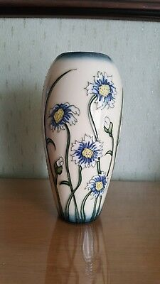 Moorcroft pottery vase moonflower pattern.