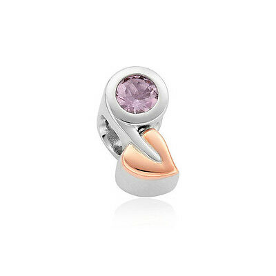 NEW Clogau Silver & Rose Gold Tree of Life Birthstone Charm £94 off! FEBRUARY