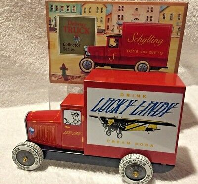 Tin Delivery Truck Advertising *Lucky Lindy Cream Soda*  Charles Lindbergh
