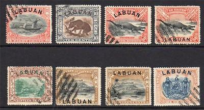 Labuan Part Set of Stamps c1897-02 Used (some faults)