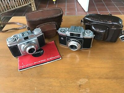 Lot (2) Vintage 35mm Cameras- Ansco & Graflex