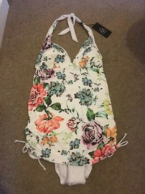 BNWT Next Floral Maternity Halter Neck Swimming Costume Size 14