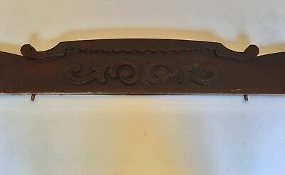 "Vintage 40"" Antique Wood Furniture Pediment Salvage Architectural Panel Part"