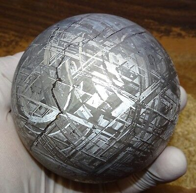 One Of A Kind Huge 85Mm, 2770 Gm Muonionalusta Etched Sphere