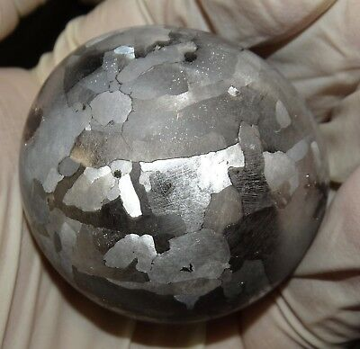 One Of A Kind Huge 50Mm Campo Del Cielo Etched Meteorite Sphere