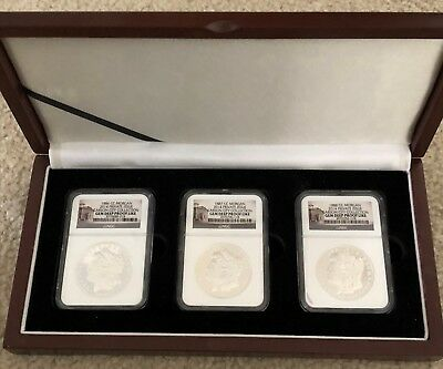 2014 Private Issue Set of Carson City Morgan Dollars 1886 1887 and 1888 NGC