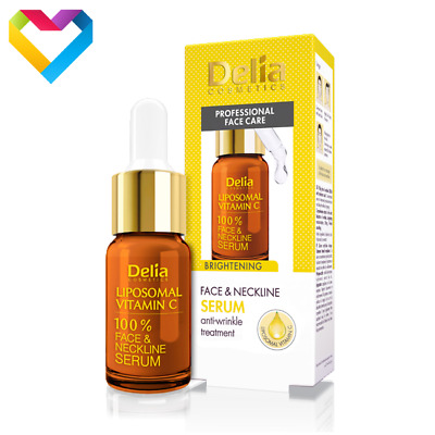 DELIA FACE & NECKLINE LIPOSOMAL VITAMIN C BRIGHTENING SERUM ANTI WRINKLE 10ml