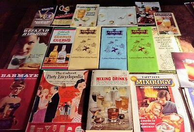 Rare Hard To Find 18 Vintage Wine, Cocktail, Liquor Recipe Booklets Books Manual
