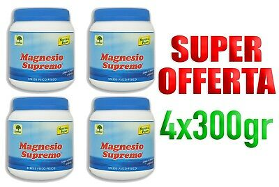 Magnesio Supremo 300 gr Antistress Natural Point 4- Confezioni da 4X300